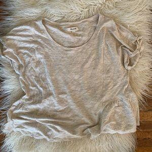 Madewell Crop Top Linen Shirt Women's Size L